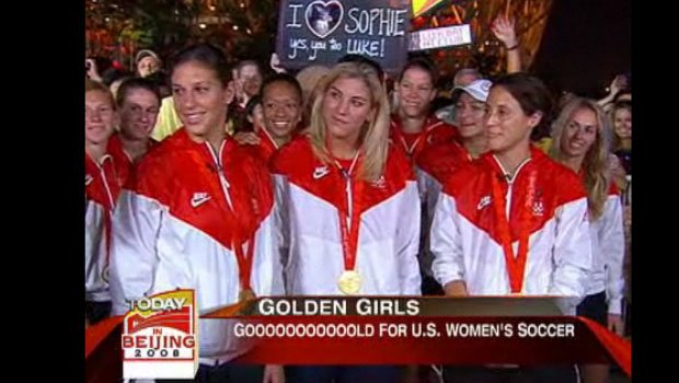 Hope Solo said Team USA was drunk when they did an interview on the NBC Today Show in 2008.