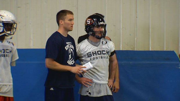  Coach Andy Olson (left) and quarterback Kyle Rowley (right) would like to return for another season in Spokane (Photo: SWX)