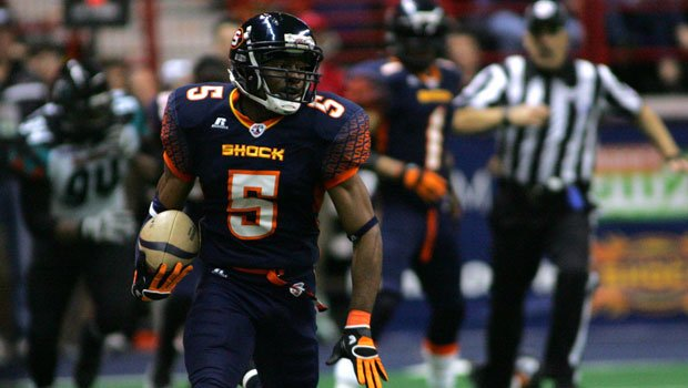 Terrance Sanders missed four games this season but ended up second in the league in kick return average (Photo: Spokane Shock)