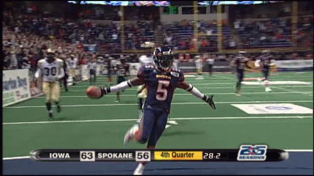Terrance Sanders was a defensive back and kick return specialist for Spokane - one of the best in the league (Photo: SWX)