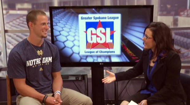 Danny Mattingly sat down with SWX's Michelle Dapper to talk about why he chose Notre Dame... and other things. (Photo: SWX)