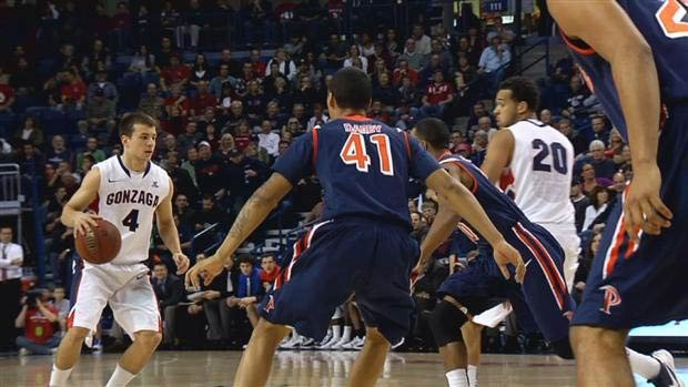 © Gonzaga will begin the WCC season on the road Jan. 3 with a game at Pepperdine. (Photo: FILE/SWX)