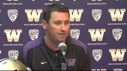 Washington coach Steve Sarkisian has been extremely impressed with LSU's special teams (Photo courtesy: KIRO)