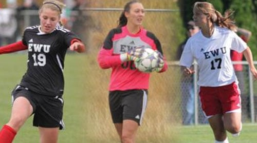 Cassie Black, Nathalie Schwery, Siara Byers won all-tournament honors this weekend in Oregon (Photo: EWU Athletics)