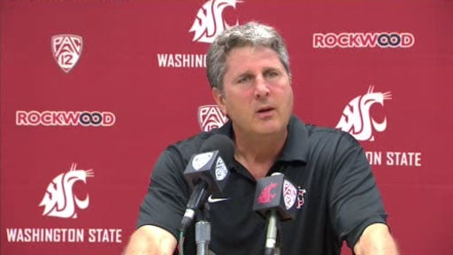 © Coach Mike Leach said his team did some good things on Saturday against EWU, but he would like to see more consistency on all sides of the ball (Photo: SWX)