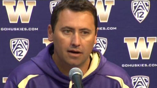 © Coach Steve Sarkisian said the Huskies made too many mistakes against LSU. (Photo Courtesy: KIRO)