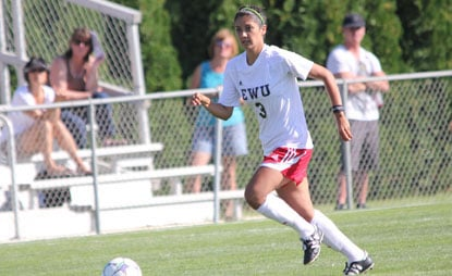  Danielle Jones scored the Eagles' first goal Sunday against Hawaii (Photo: EWU Athletics)