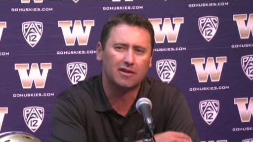 Coach Steve Sarkisian said there are still things to 'clean up' before Saturday's game against Stanford (Courtesy: KIRO)