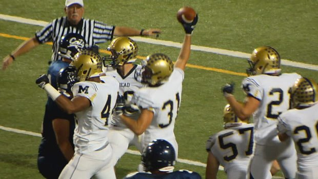 Mead beat Mt. Spokane Friday night in the Battle of the Bell rivalry game (Photo: SWX)