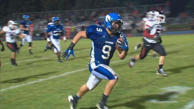© Highland, from Pocatello, beat Coeur d'Alene 45-26, handing the Vikings their second straight loss.