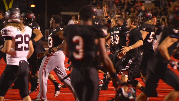  Eastern Washington scored twice in the final 2:19 to stun Montana at Roos Field in Cheney (Photo: SWX)