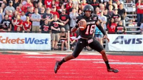 Vernon Adams is one of 16 players nominated for the Jerry Rice Award - the award given to the top freshman in the FCS (Photo: EWU Athletics)