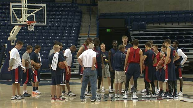 © Gonzaga will begin the season ranked No. 22 in the coaches poll. Their first exhibition game is Oct. 27 against NW Nazarene (Photo: SWX)