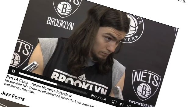 Adam Morrison played for Brooklyn and the LA Clippers in the summer before spending the preseason with Portland (FILE)