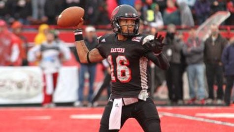 Vernon Adams completed 19-of-29 passes for 288 and three touchdowns Saturday against Cal Poly. (Photo: EWU Athletics)