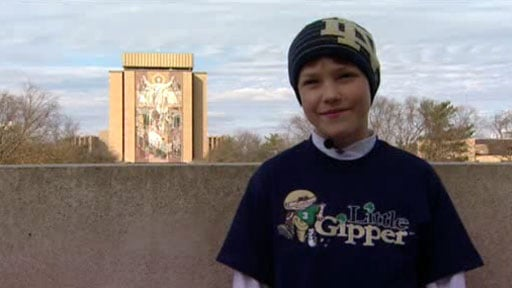 Jake Keyes, from Spokane, watched the Pitt-Notre Dame game in person after signing books at a book store in South Bend.