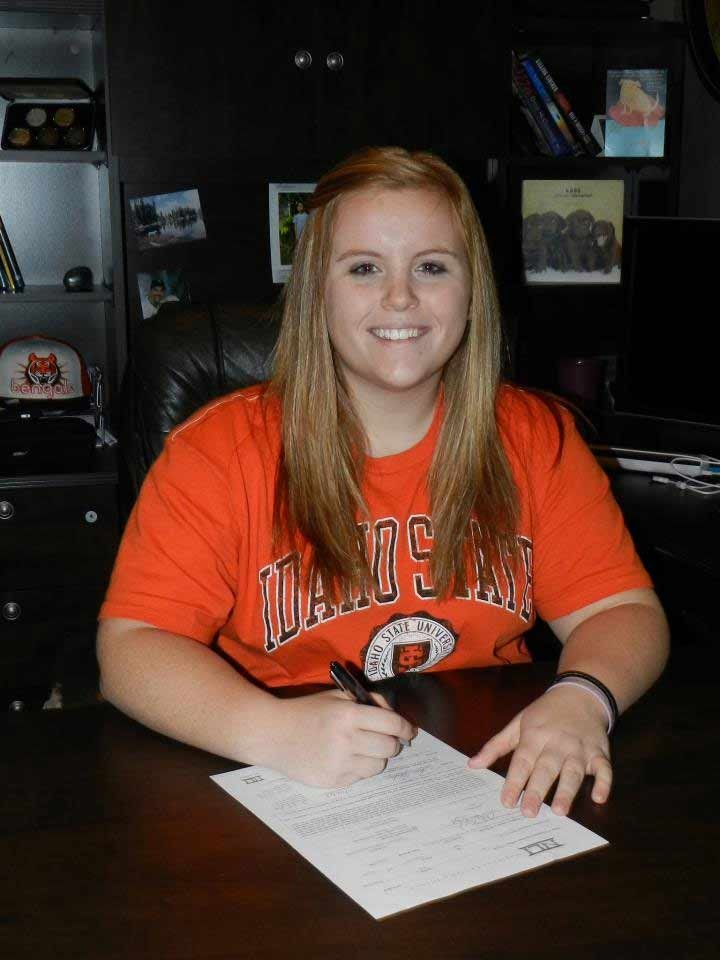 Darby Kolar, from Post Falls, intends to play softball at Idaho State in Pocatello next season (Jim Kolar)