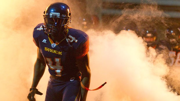 © Rucshard Dodd-Masters played with the Shock in 2011. He spent last season with the San Jose Sabercats (Photo: Gary Peterson Photography/Spokane Shock)