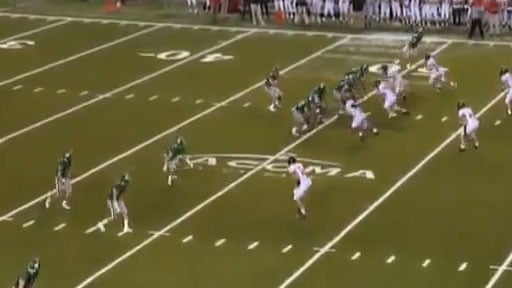 Max Browne skipped a pass behind the line of scrimmage in last week's semifinal game against Camas. (YouTube)
