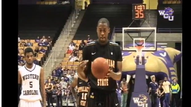 Brian Okam didn't even come close to hitting the rim - or the backboard for that matter - against Western Carolina (YouTube)