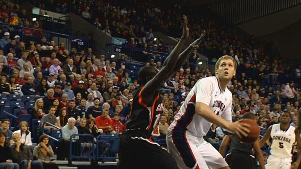 Gonzaga's offense shot better than 60 percent in the first half against Campbell (Photo: SWX)