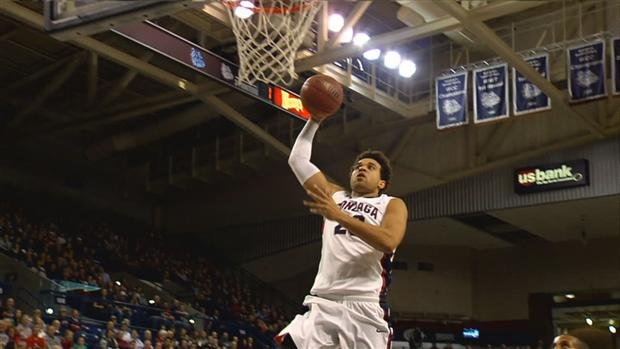 Elias Harris scored 11 points in 20 minutes of play for Gonzaga (Photo: SWX)