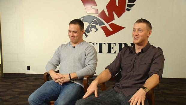 JC Sherritt (left) and Bo Levi Mitchell recently sat down for an interview together with SWX (Photo: SWX)