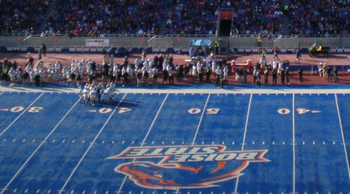 Boise State decided over the holidays to leave the Big East even before it began playing as a full member (Photo: BSU Orange Crush)
