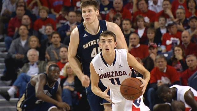 David Stockton, now a junior, said even he didn't think he could do what he's done at Gonzaga when he started (Photo: SWX)