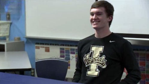 Central Valley's Austin Rehkow signed a Letter of Intent to play for the Idaho Vandals next season (Photo: SWX)