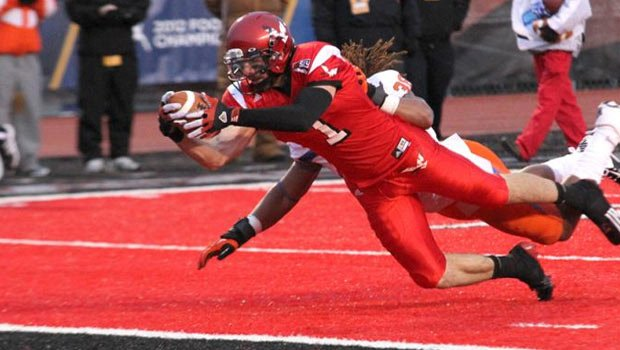 The NCAA Football Rules Committee believes teams that wear colors that match their playing field may have an unfair advantage (Photo: EWU Athletics)