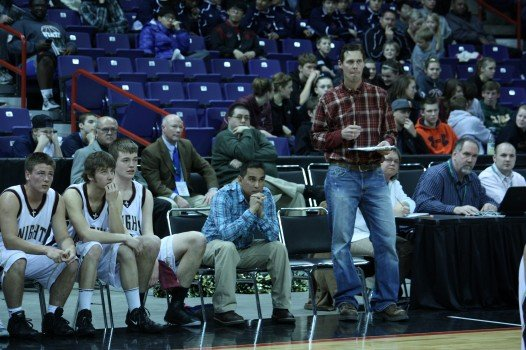 Sunnyside Christian coach Brian Bosma left his dress clothes at home (Photo: SWX)