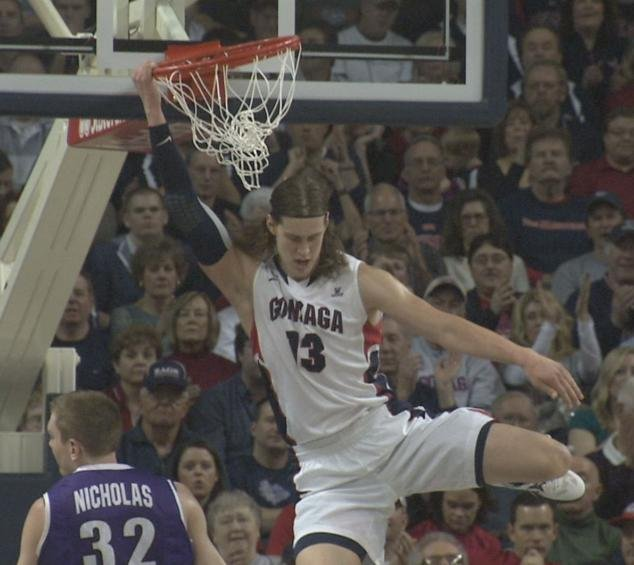 Gonzaga beat Portland 81-52 on Saturday, convincing voters they were worthy of a No. 1 ranking (Photo: SWX)