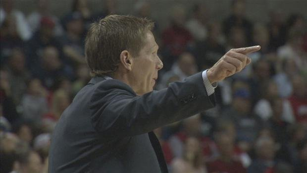 Coach Mark Few was named the WCC Coach of the Year for the 9th time in his career (Photo: SWX)