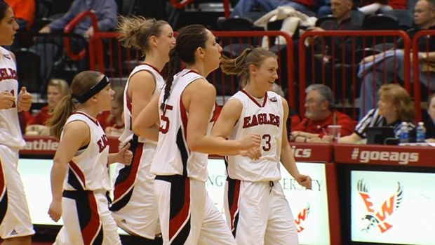 The Eastern women rallied from a first-half deficit to beat Idaho State.