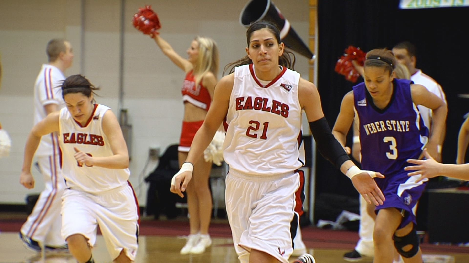 Carrie Ojeda had 27 points and 12 rebounds for EWU.
