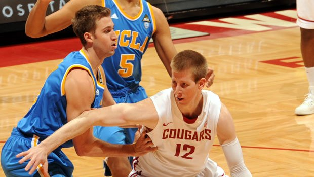 Brock Motum scored double-doubles in games against UCLA and USC last week. (Photo: WSU Athletics)