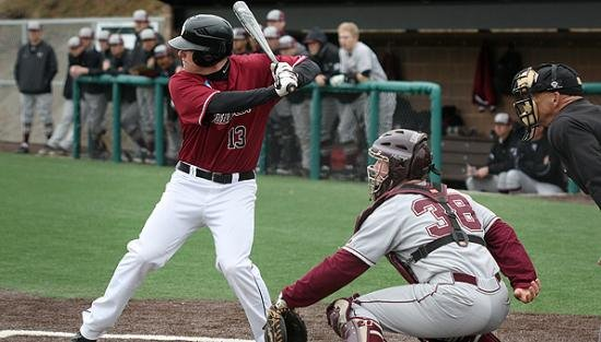 Tyler Pfeffer led the Pirates at the plate on Sunday. (Courtesy Whitworth athletics)