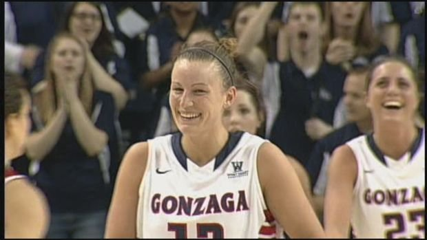 Taelor Karr and Gonzaga will have a tough test in Iowa State on Saturday.