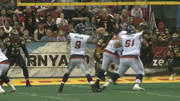 Shock quarterback Erik Meyer was voted the AFL MVP for Week 3. Meyer also won the honor for Week 1.