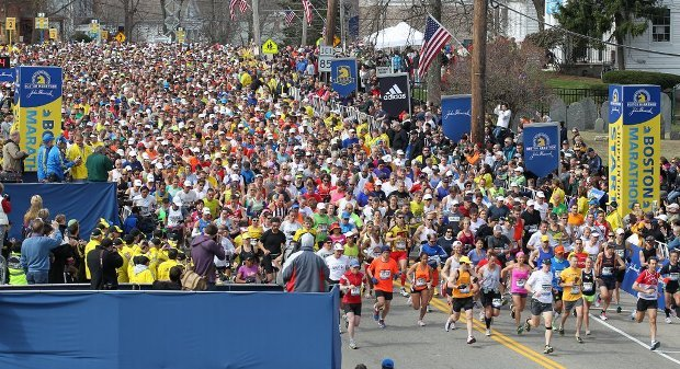 Police say two bombs exploded near the finish of the Boston Marathon on Monday. (Photo: Courtesy AP)
