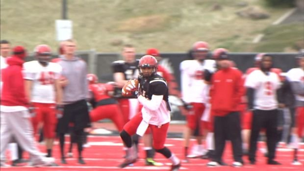 Quarterback Vernon Adams is developing a rapport with the Eastern Washington receivers.