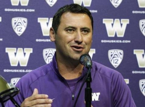 UW head coach Steve Sarkisian picked up his fourth recruit of the 2014 class in Chase Blakley. (Photo courtesy AP)