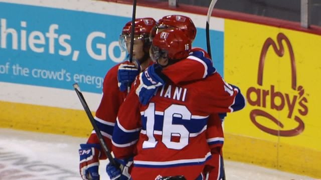 Mike Aviani scored twice tonight against Medicine Hat.