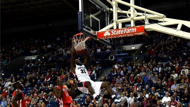 Sam Dower Jr. sets new career highs with 21 points and 17 rebounds as the Zags dominate Bryant 100-76.