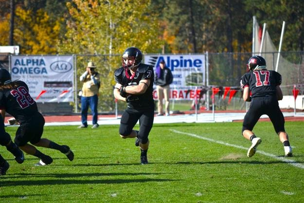 Pirate running back DJ Tripoli finished with an All-NWC Honorable Mention this season.