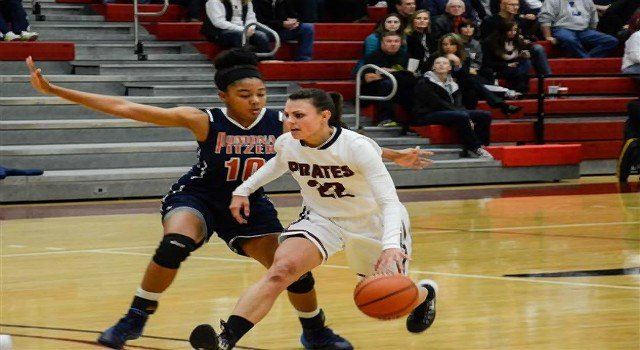 Lexie Zappone played 36 hard fought minutes to help the Pirates defeat UC- Santa Cruz.