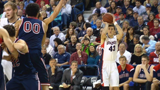 Drew Barham lead Gonzaga with 16 points, going 4-of-5 from downtown.