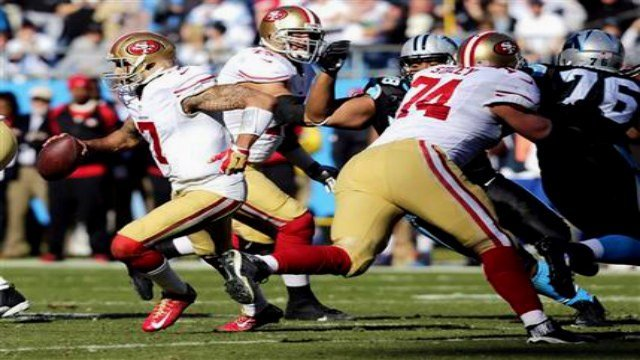 Colin Kaepernick and the 49ers ran past Carolina on Sunday and will meet the Seahawks in the NFC Championship.