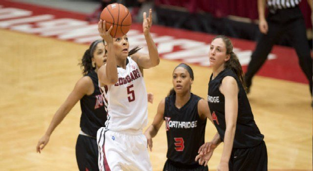 Tia Presley and Lia Galdeira combined for 34 points to lead the Cougs to a 5-0 Pac-12 start.